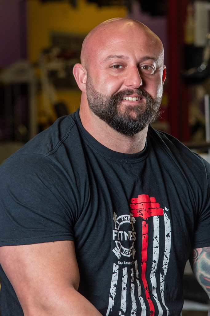 Chad Paradis is a personal trainer in San Angelo at The Fitness Zone